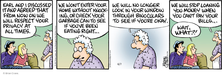 Comic Strip Brian Crane  Pickles 2017-06-07 respectful