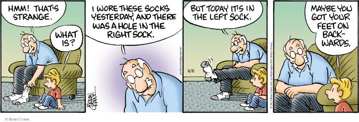 Comic Strip Brian Crane  Pickles 2017-06-08 foot