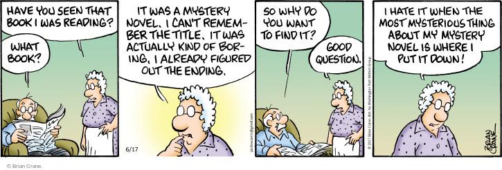 Comic Strip Brian Crane  Pickles 2017-06-17 title