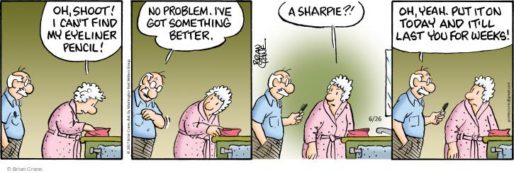 Cartoonist Brian Crane  Pickles 2017-06-26 week