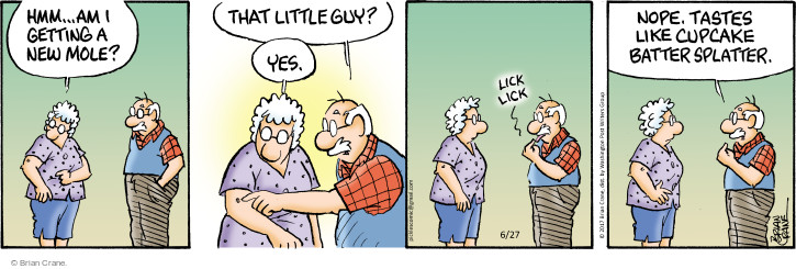 Comic Strip Brian Crane  Pickles 2017-06-27 lick