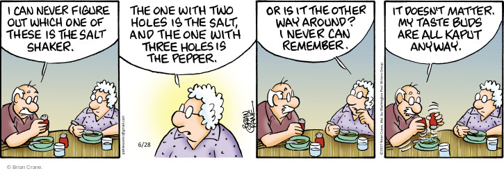Comic Strip Brian Crane  Pickles 2017-06-28 doesn't matter