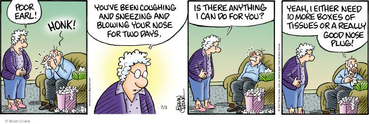Comic Strip Brian Crane  Pickles 2017-07-01 cold nose
