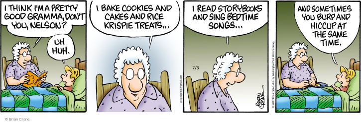 Comic Strip Brian Crane  Pickles 2017-07-03 grandmother