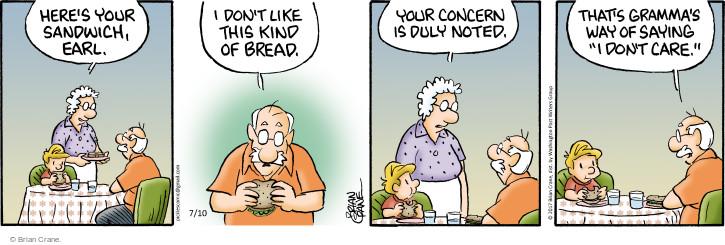 Comic Strip Brian Crane  Pickles 2017-07-10 bread