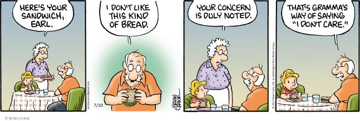 Comic Strip Brian Crane  Pickles 2017-07-10 care