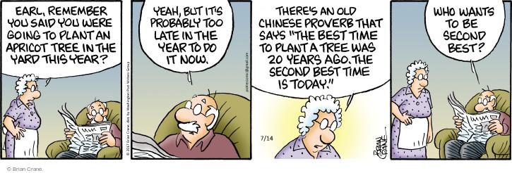 Comic Strip Brian Crane  Pickles 2017-07-14 too