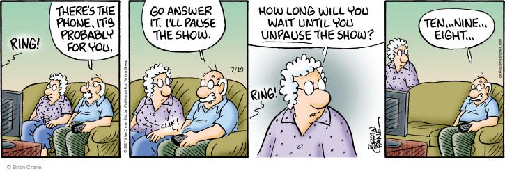 Comic Strip Brian Crane  Pickles 2017-07-19 television