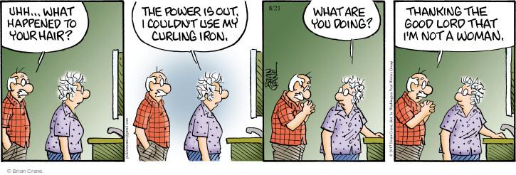 Comic Strip Brian Crane  Pickles 2017-08-21 hairstyle