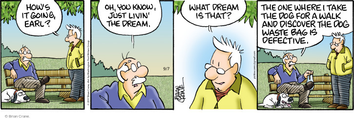 Comic Strip Brian Crane  Pickles 2017-09-07 dream