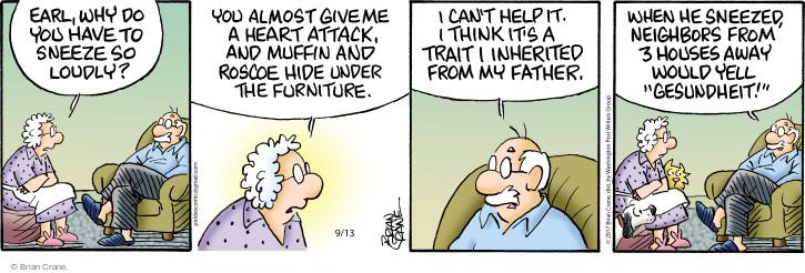Comic Strip Brian Crane  Pickles 2017-09-13 Earl