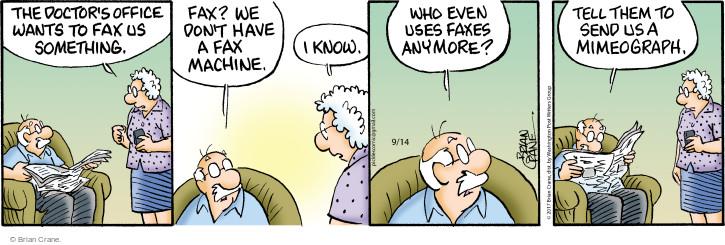 Comic Strip Brian Crane  Pickles 2017-09-14 technology