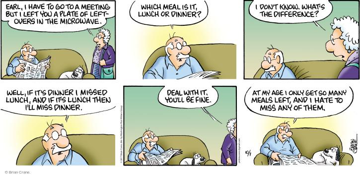 Comic Strip Brian Crane  Pickles 2017-10-01 supper