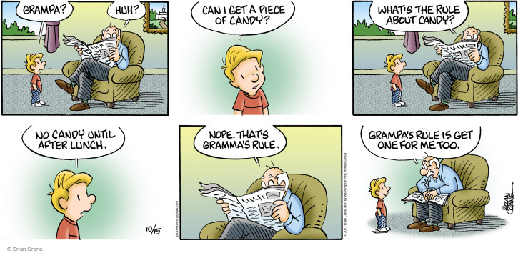 Comic Strip Brian Crane  Pickles 2017-10-15 grandpa