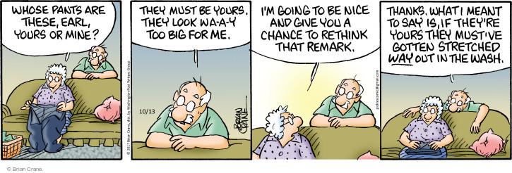 Comic Strip Brian Crane  Pickles 2017-10-13 wash