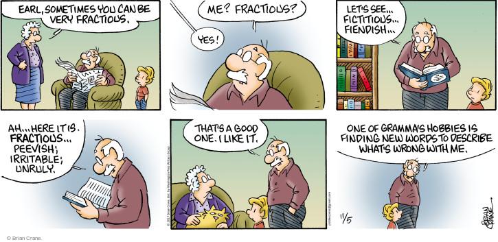 Comic Strip Brian Crane  Pickles 2017-11-05 Earl