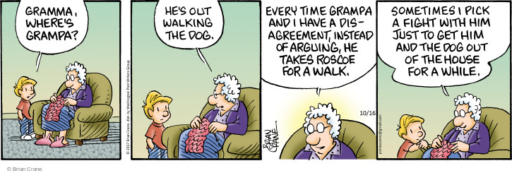 Comic Strip Brian Crane  Pickles 2017-10-16 argument