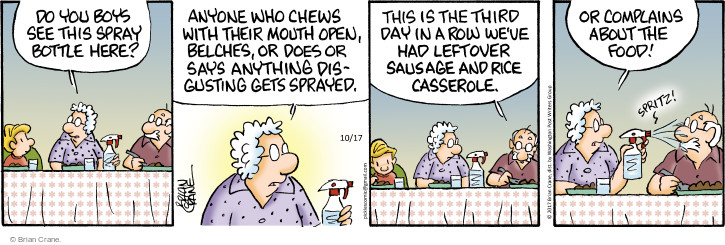 Comic Strip Brian Crane  Pickles 2017-10-17 chew
