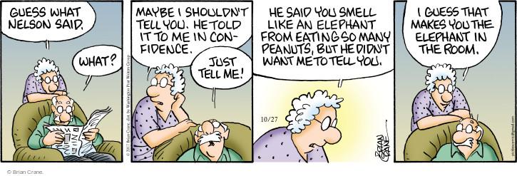 Comic Strip Brian Crane  Pickles 2017-10-27 confidence