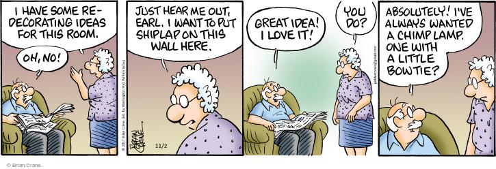 Comic Strip Brian Crane  Pickles 2017-11-02 Earl