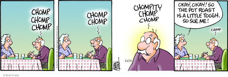 Comic Strip Brian Crane  Pickles 2017-11-21 mistake