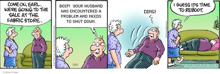 Comic Strip Brian Crane  Pickles 2017-12-02 husband