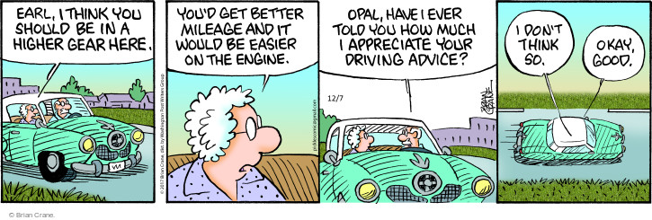 Comic Strip Brian Crane  Pickles 2017-12-07 vehicle