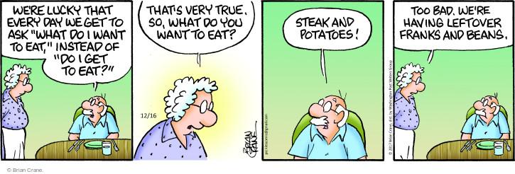 Comic Strip Brian Crane  Pickles 2017-12-16 bad