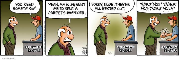 Comic Strip Brian Crane  Pickles 2018-01-17 rent