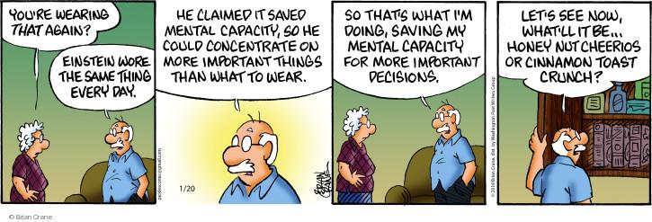 Comic Strip Brian Crane  Pickles 2018-01-20 nut