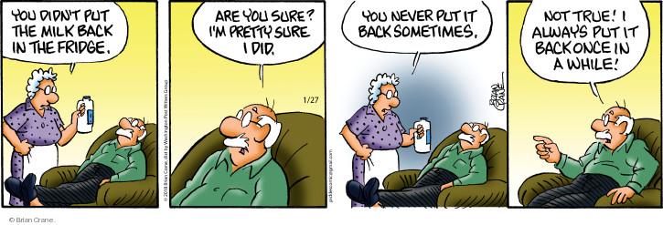 Comic Strip Brian Crane  Pickles 2018-01-27 refrigerator