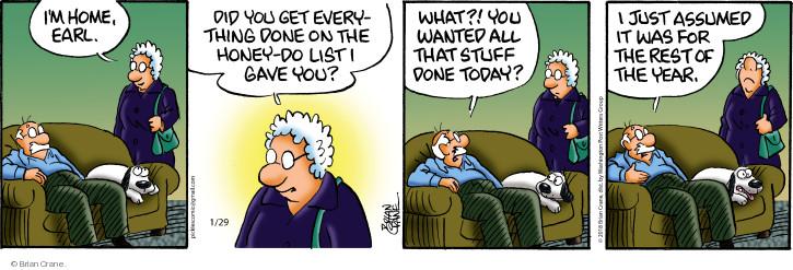 Cartoonist Brian Crane  Pickles 2018-01-29 honey