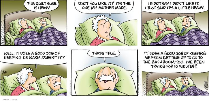 Comic Strip Brian Crane  Pickles 2018-02-25 minute