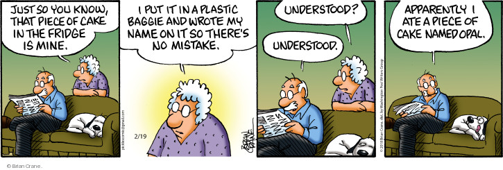 Comic Strip Brian Crane  Pickles 2018-02-19 refrigerator