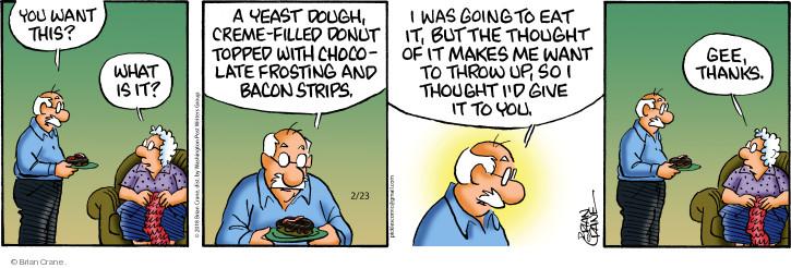 Comic Strip Brian Crane  Pickles 2018-02-23 frosting