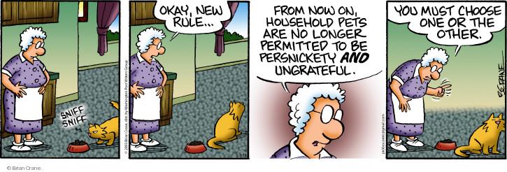 Comic Strip Brian Crane  Pickles 2018-03-02 refuse