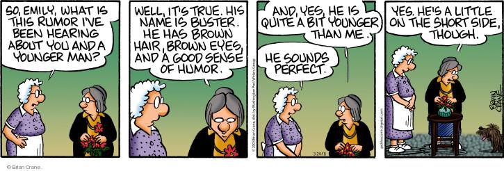 Comic Strip Brian Crane  Pickles 2018-03-24 side
