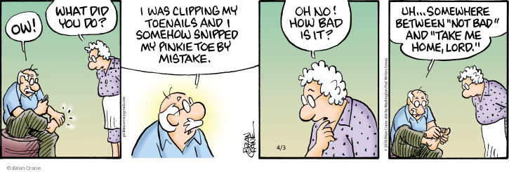 Comic Strip Brian Crane  Pickles 2018-04-03 bad