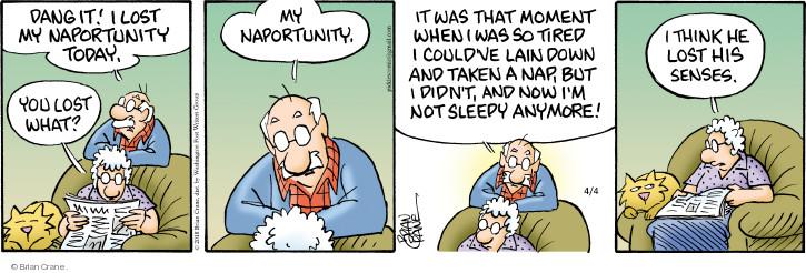 Comic Strip Brian Crane  Pickles 2018-04-04 dang