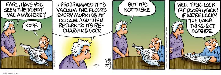 Comic Strip Brian Crane  Pickles 2018-04-14 robotics