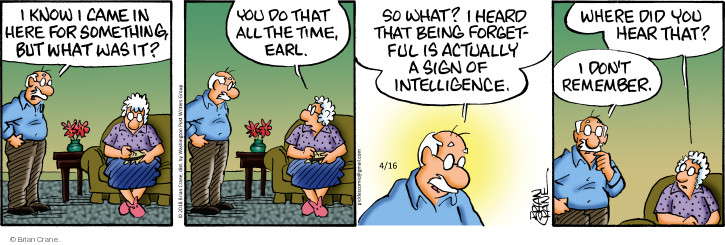 Comic Strip Brian Crane  Pickles 2018-04-16 actually