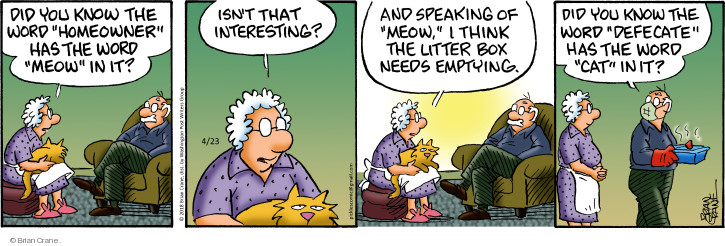 Comic Strip Brian Crane  Pickles 2018-04-23 cat litter box