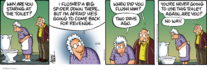 Comic Strip Brian Crane  Pickles 2018-04-30 plumbing