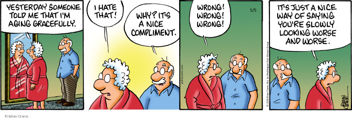 Comic Strip Brian Crane  Pickles 2018-05-05 senior