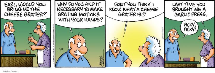Comic Strip Brian Crane  Pickles 2018-05-08 utensil