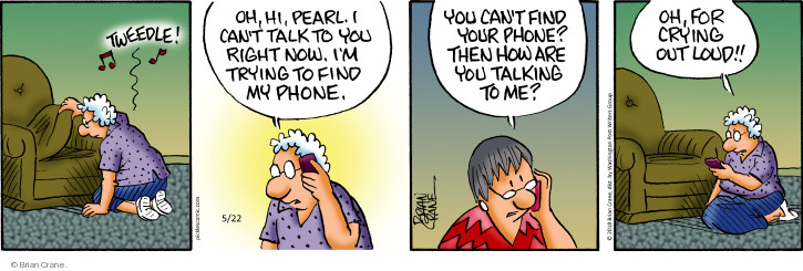 Comic Strip Brian Crane  Pickles 2018-05-22 cell phone