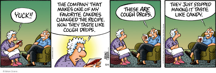 Comic Strip Brian Crane  Pickles 2018-06-04 taste