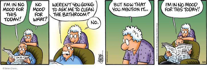 Comic Strip Brian Crane  Pickles 2018-06-06 bathroom