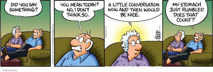 Comic Strip Brian Crane  Pickles 2018-06-09 conversation