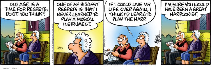 Comic Strip Brian Crane  Pickles 2018-06-13 old age